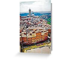 Historic Siena Greeting Card