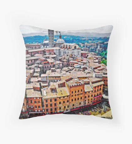 Historic Siena Throw Pillow