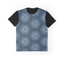 White, blue and grey Graphic T-Shirt
