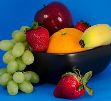 Fruit Bowl by Oil Water Artt