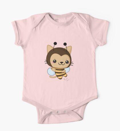 Bee Cat One Piece - Short Sleeve