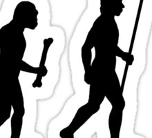 Evolution of Man and Hiking Sticker