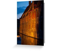 Brugge by night Greeting Card