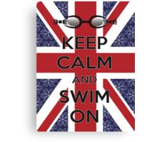 Swim London Canvas Print