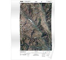 USGS Topo Map Washington State WA Mount Barney 20110427 TM Poster