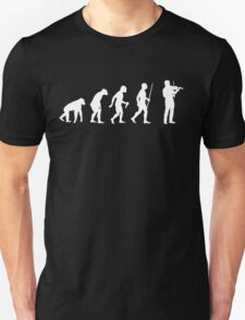 Evolution of Man and Violin T-Shirt