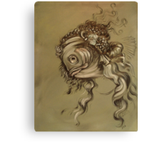 Fishy Da Vinci Sketch Canvas Print