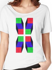 4 Cubes (Inverted) Women's Relaxed Fit T-Shirt