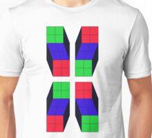 4 Cubes (Inverted) Unisex T-Shirt
