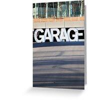 Garage Greeting Card
