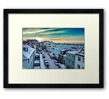 Sunrise over Reykjavik Framed Print