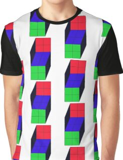 Trippy Cube Graphic T-Shirt