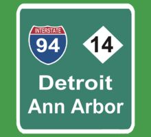 DETROIT MEETS ANN ARBOR: INTERSTATE 94 | M-14 by SOL  SKETCHES™