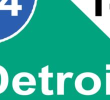 DETROIT MEETS ANN ARBOR: INTERSTATE 94 | M-14 Sticker