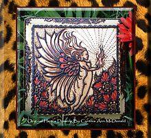 Henna Fire Fairy with Leopard Print By Cynthia McDonald by StarlitSkiesArt