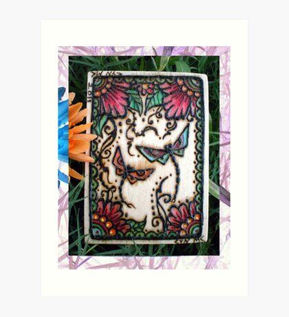 Henna Dragon Flys By Cynthia McDonald Art Print