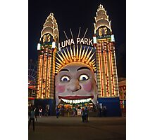 Old King Cole Welcome to Luna Park Photographic Print