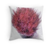 """Blush"" Brush Throw Pillow"