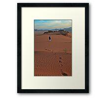 Walking Wadi Rum Framed Print