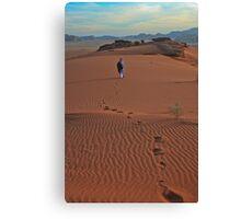 Walking Wadi Rum Canvas Print