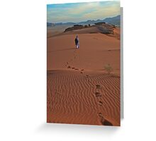 Walking Wadi Rum Greeting Card
