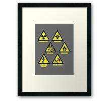 Warning Signs Framed Print