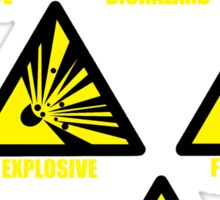 Warning Signs Sticker