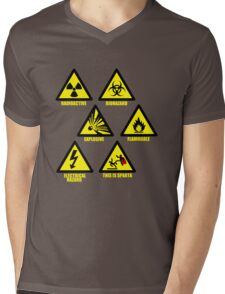 Warning Signs Mens V-Neck T-Shirt