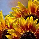 Sunflower tapestry by Celeste Mookherjee
