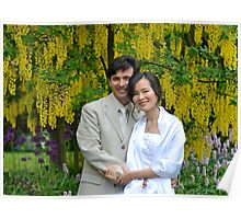 Beautiful Bride & Groom in a Beautiful Garden... Poster