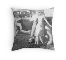MEET THE FOX FAMILY Throw Pillow