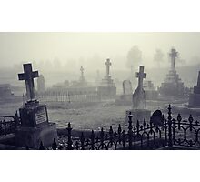 fog in the graveyard Photographic Print