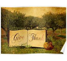 Give Thanks at Thanksgiving Poster