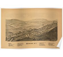 Panoramic Maps Hunter NY Poster