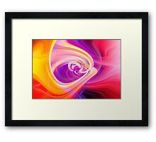Twirl with Purple & Yellow Framed Print