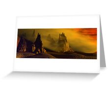 Dust Storm At Sunset Greeting Card