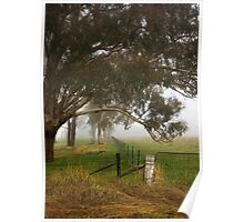 Rural misty moment ... Poster