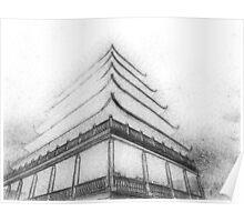 Pagoda Sketch Poster