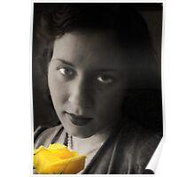 Yellow Morning Rose Poster