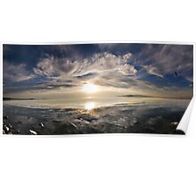 Great Salt Lake Sunset Poster