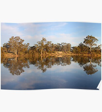 River Murray Reflections Poster