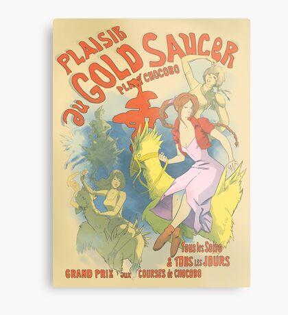 Plaisir au Gold Saucer Metal Print