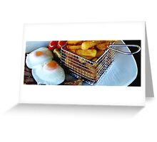 A Slice of Gammon Egg & Chips Greeting Card