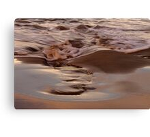 last light. redbill beach, tasmania Canvas Print