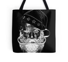 creepy scary santa in black and white Tote Bag