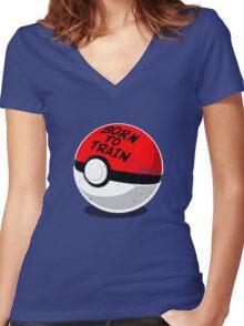 Full Metal Trainer- Pokemon Shirt Women's Fitted V-Neck T-Shirt
