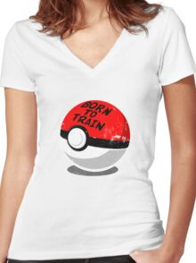 Full Metal Trainer- Pokemon Shirt Women's Fitted V-Neck T-Shirt