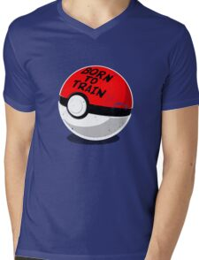 Full Metal Trainer- Pokemon Shirt Mens V-Neck T-Shirt