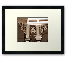North Terrace Lace Framed Print