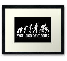 MAMIL Middle Aged Man In Lycra Evolution Shirt Framed Print